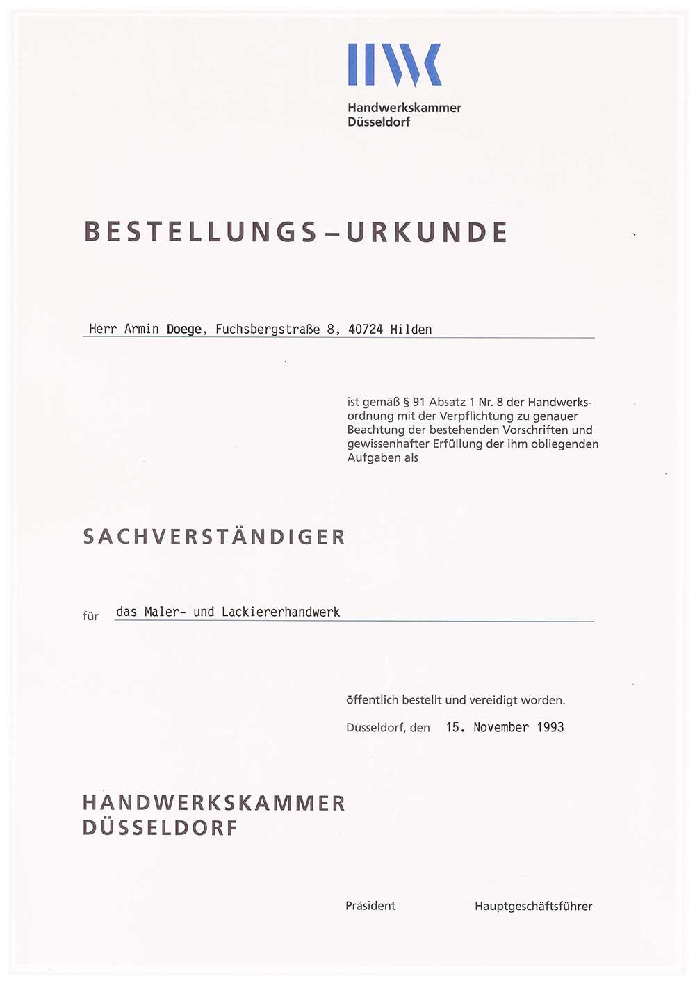 Urkunde sachverständiger